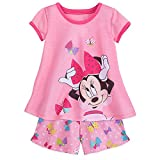 Disney Minnie Mouse Shorts Sleep Set For Girls