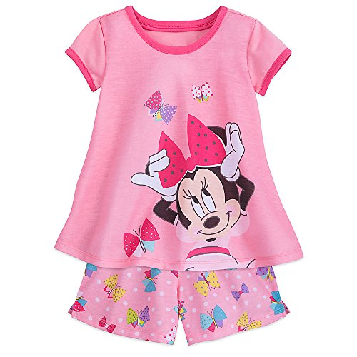 Disney Minnie Mouse Shorts Sleep Set For Girls Size 4