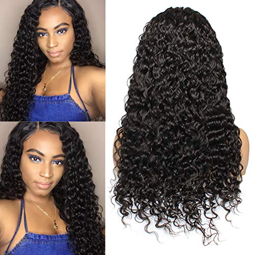 Leeven 26 Inch Natural Color Lace Front Human Hair Wigs Water Wave 13x6 Lace Frontal Wigs for Women Brazilian Remy Human Hair Pre plucked Hairline 150% Density (Six Thirteen Shampoo)
