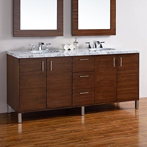 72 in. Double Vanity in American Walnut Finish