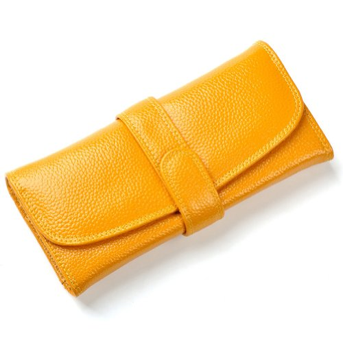 GSP - Cartera de mano de cuero para mujer Amarillo - amarillo