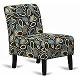 Hodedah Armless Accent Chair, Fall