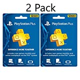 2 Pack 12 Month / 1 Year Sony PlayStation Plus Network Membership Subscription Card