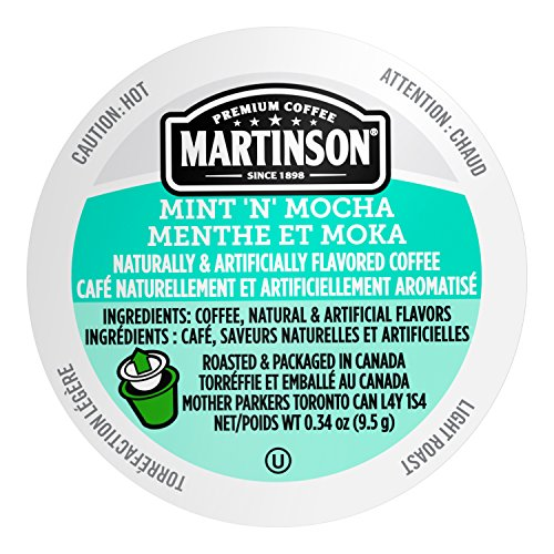 - Martinson Single Serve Coffee Capsules, Mint 'N' Mocha, 24 Count (Pack of 4)