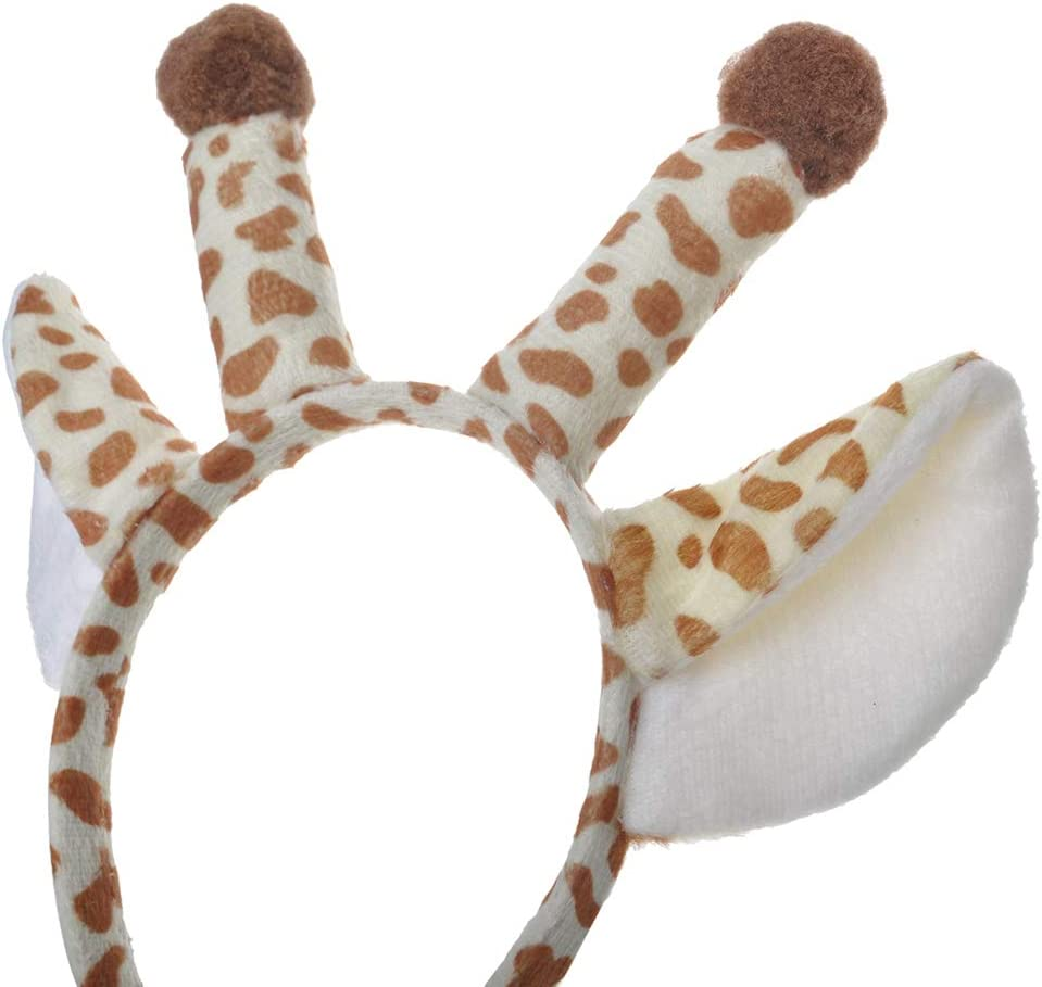 Jungle Safari Animals Hair Hoop for Birthday Party TOPTIE 6 PCS Pig Zoo Animal Ears Headband