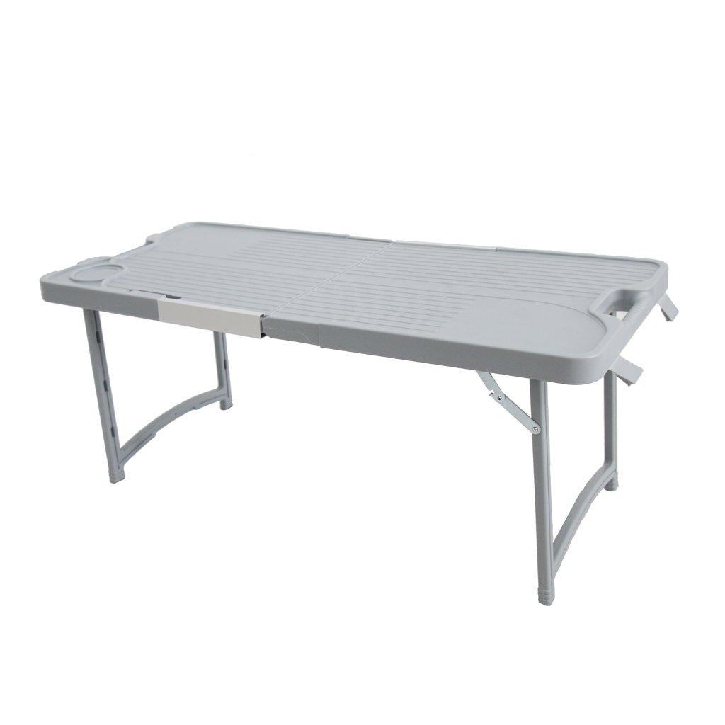 D DOLITY Campingtisch Klapptisch Gartentisch aus Kunststoff, 805 x 355 x 335 mm