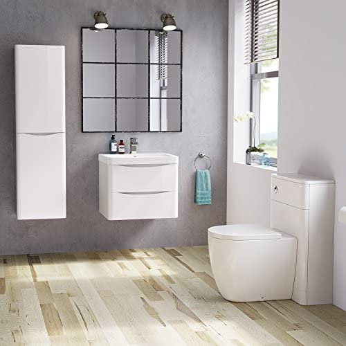 1400 mm Tall Modern Bathroom Furniture Cupboard Left Hand Cabinet Storage Unit