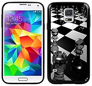 Chess Pieces Board Game Handmade Samsung Galaxy S5 Black Case