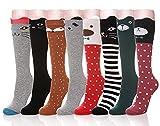 Color City Girls Cute Knee High Socks - Cartoon Animal Warm Cotton Stockings