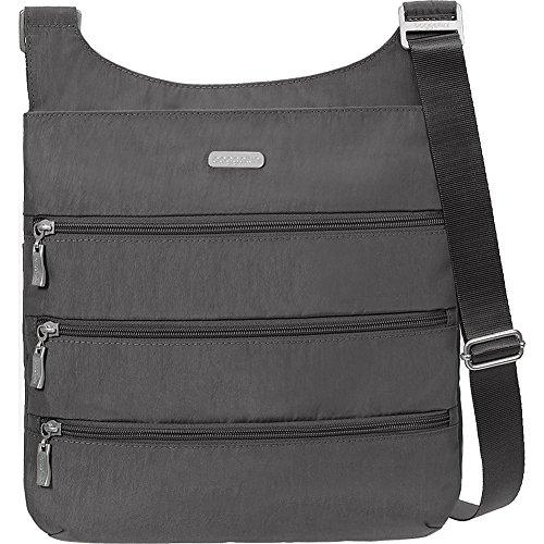 baggallini Big Zipper Bagg with RFID (Charcoal/Fuschia)