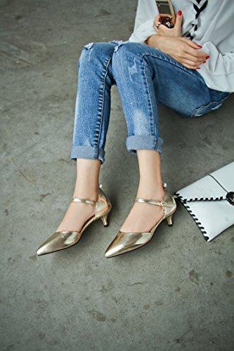 Scarpe Jushee 1813 Donna JUEU Gold col Tacco MJ ttq1W4rwzg