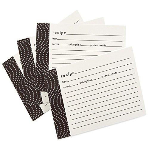 Hallmark Black Wave Recipe Cards