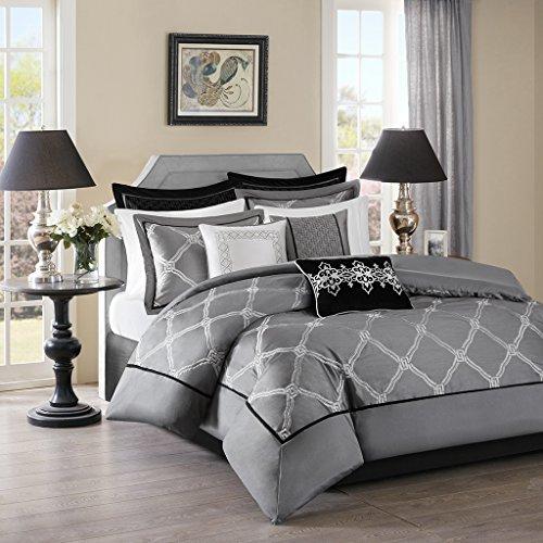 Bombay Teramo Multi Piece Comforter Set, Queen, Grey ()