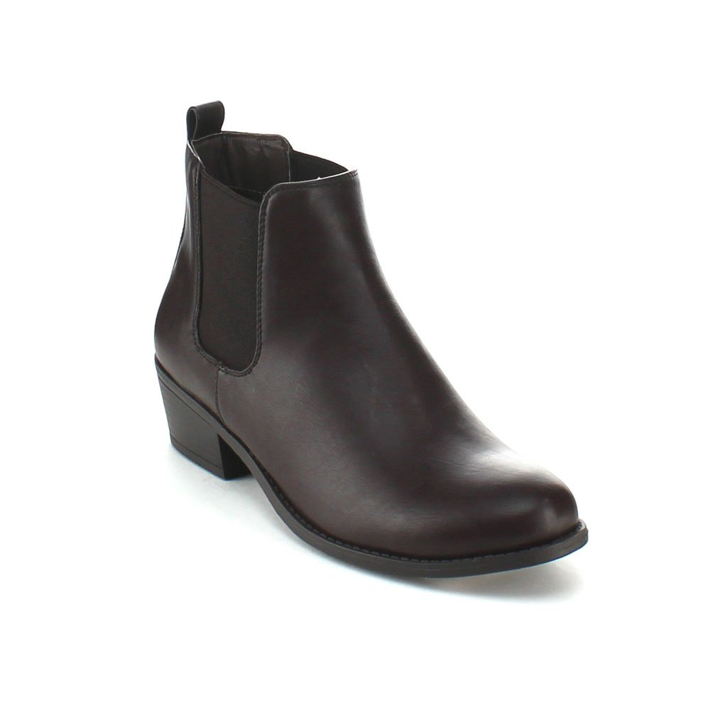 Refresh TILDON-02 Women's Elastic Chelsea Ankle Booties (Have A Narrow Shoe Toe)