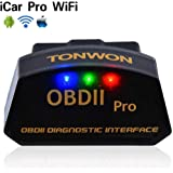 OBD WiFi Code Readers, TONWON OBDII Scan Tool ELM327 Car Diagnostic Tool Check Engine OBD Scanner for iOS and Andiord