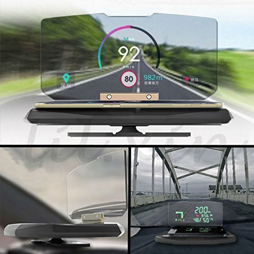 I-Sonite Head up Display Projector Universal Car HUD Holder Bracket Display Image HD Reflector Energizer Power Max P490S Mobile Phone GPS Navigation by I-Sonite (Image #2)
