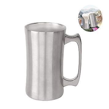 BEILENING Jarra de Cerveza, Acero Inoxidable Taza de té ...