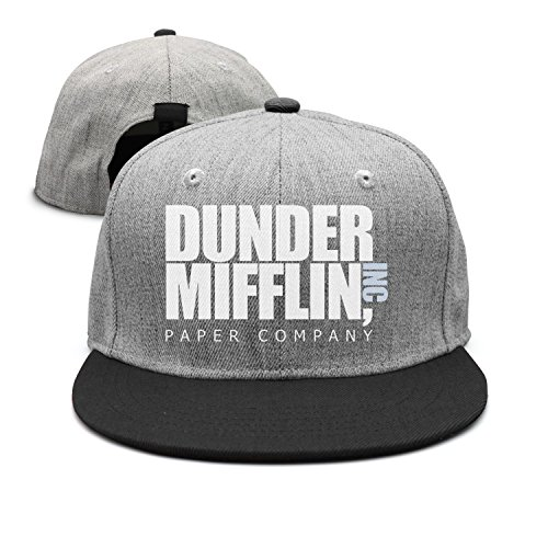 MANMESH HATT Flat-Brim Baseball Caps Dunder Mifflin Paper Lnc Snapback  Unisex Adjustable Hat at Amazon Men s Clothing store  b4f85701545