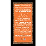 MLB Baltimore Orioles Subway Sign Wall Art with Authentic Dirt from Oriole Park at Camden Yards, 9.5x19-Inch