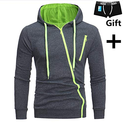 EOWEO 2019 Valentine's Day Hooded Sweatshirt Tops Mens' Long Sleeve Hoodie Sweatshirt Tops Jacket Coat Outwear and Gift Men Underwear Green