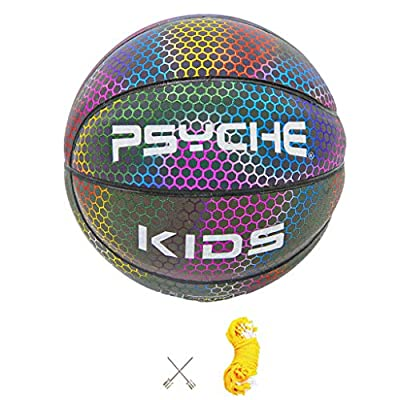 Light Up Basketball, Holographic Glowing Reflective Basketball - Light Up Camera Flash Glow in The Dark Basketballs - Hoop Gifts Toys for Kids and Boys - Perfect Toy for Night Game: Arts, Crafts & Sewing