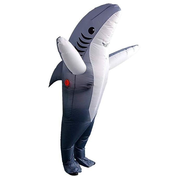 FunClothing Disfraz Inflable para Adulto, Disfraz de tiburon, Muy ...