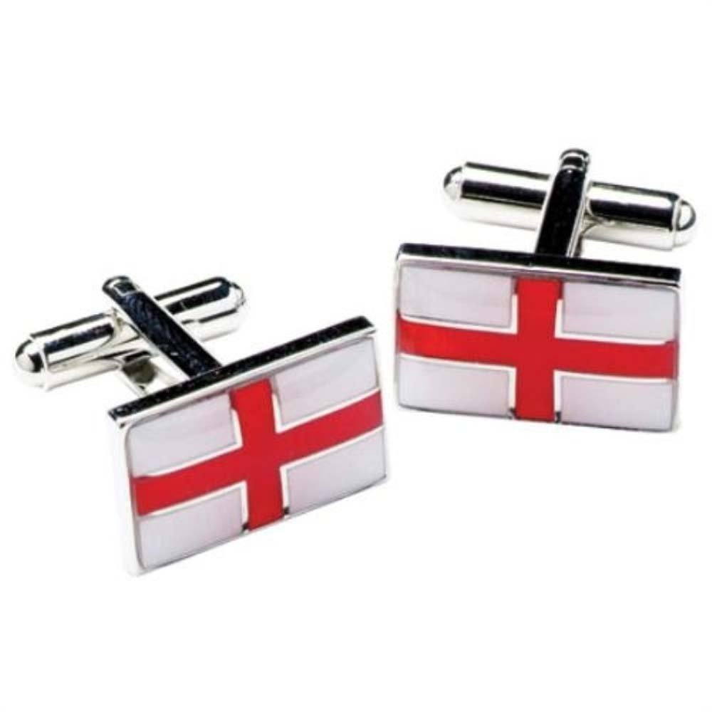 Onyx-Art London Novelty Cufflinks - St Georges Cross