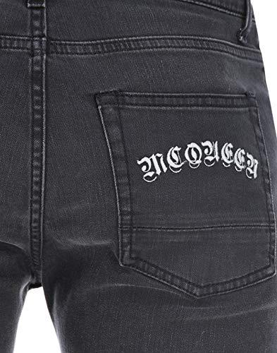 Mcqueen Cotone Alexander Uomo 520253qly771001 Nero Jeans dBnqYUH