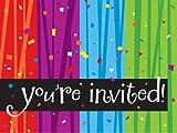 Creative Converting Milestone Celebrations You're Invited Party Invitations, 8-Count