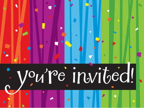Creative Converting Milestone Celebrations You're Invited Party Invitations, 8-Count