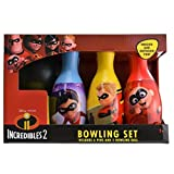 Disney Pixar Incredibles 2 Bowling Set - Includes 6 Pins and 1 Ball - Indoor and Outdoor Fun - Sports Accessories (7pc Set)