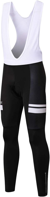 INBIKE Culote Ciclismo Hombre Largo Culottes MTB Bicicleta Badana Gel Pantalón Largo Ciclismo