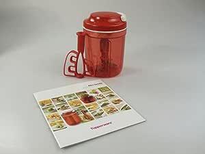 TUPPERWARE Turbo Max de 730 ml rojo + Libro de recetas