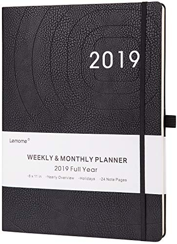 Planner 2019-2020 - Academic Weekly, Monthly and Year Planner with Pen Loop, to Achieve Your Goals & Improve Productivity, Thick Paper, Inner Pocket, 8.5