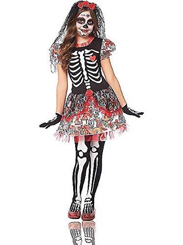 Day of Dead Skeleton Girl Kids