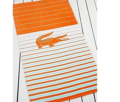 Lacoste Skipper, color naranja toalla de playa (36 x 72) t15109r2843672 por Lacoste: Amazon.es: Hogar