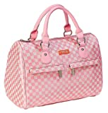 Sachi Fashion Insulated Lunch Bag, Pink Squares Speed