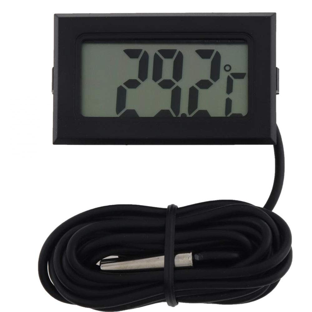 QYY LCD Digital Refrigeratorthermometer, Temperature Sensor Meter Weather Station Temperature Controller with 1M Cable Probe for Car/Room/Aquarium by QYY