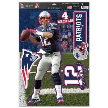 - New England Patriots Tom Brady 11''x17'' Multi-use Decal Sheet
