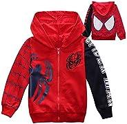 1 Pc Children 's Cotton Zipper Hooded Spider-Man Embroidered Ja