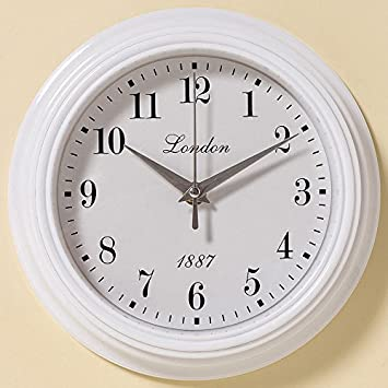 Amazon De Wanduhr 23cm Weiss Nostalgie London 1887 Uhr Shabby Chic