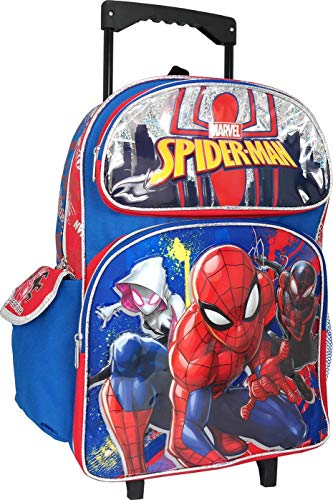 Spiderman Large 16 inches Rolling Backpack