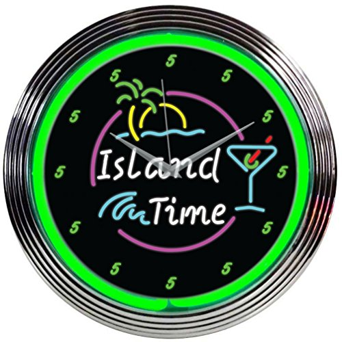 Neonetics Island Time Neon Wall Clock,