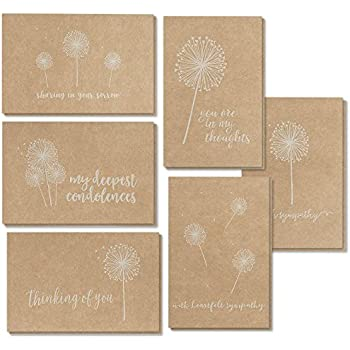 Amazon sympathy cards comfort box of 10 cards envelopes sympathy cards 36 pack sympathy cards bulk greeting cards sympathy kraft paper 6 floral designs envelopes included assorted sympathy cards m4hsunfo