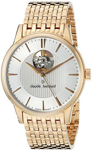 Claude-Bernard-Mens-85017-37RM-AIR-Automatic-Open-Heart-Analog-Display-Swiss-Automatic-Rose-Gold-Watch