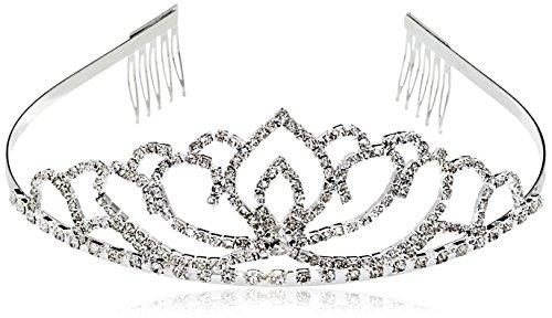 Vinida Crystal Tiara Crown Headband for Wedding Prom Bridal Birthday (Sliver) (Princess Bride Costumes)