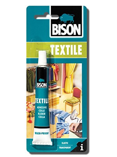 Bison 1 X 6305310 Textile Fabric Material Jute Felt & Coir Adhesive Glue 25Ml Wash Iron Proof Dries Clear Transparent (Fabric Dries Clear Adhesive)
