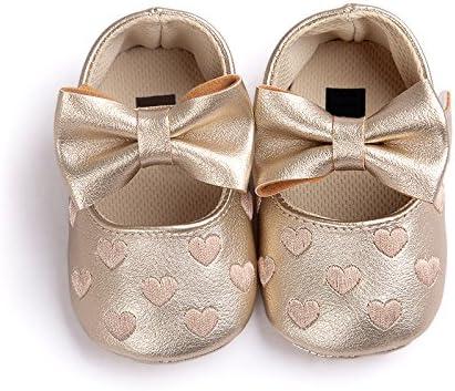 Chenrui AMAA 여자 단 화 정장 心柄 큰 리본 붙이는 미끄럼 11-13cm 1-3 세 / chenrui AMAA Girls` Shoes Formal Heart Pattern With Large Ribbon Non-Slip 11-13cm 1-3 Years Old