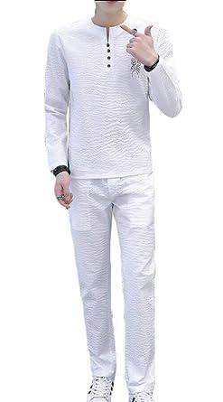 Gocgt - Chándal - para Hombre Blanco Blanco XXL: Amazon.es: Ropa y ...