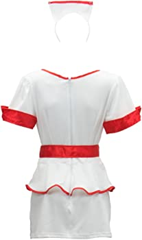 Amazon.com: Naughty Enfermera Disfraz de Halloween de la ...